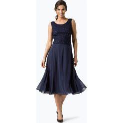 Vera Mont Collection - Damska sukienka wieczorowa, niebieski. Niebieskie sukienki balowe Vera Mont Collection, z koronki, rozkloszowane. Za 849,95 zł.