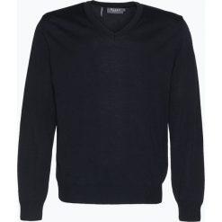 März - Męski sweter z wełny merino, niebieski. Niebieskie swetry klasyczne męskie März, m, z wełny, z klasycznym kołnierzykiem. Za 449,95 zł.