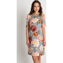 Sukienki: Wiskozowa sukienka w kwiaty BIALCON