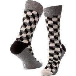 Skarpety Wysokie Męskie HAPPY SOCKS - FO01-901 Kolorowy Szary. Szare skarpetki męskie Happy Socks, w kolorowe wzory, z bawełny. Za 34,90 zł.