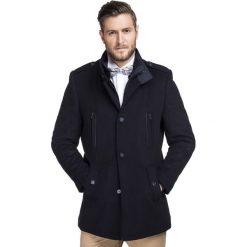 Płaszcz BONIFACIO PSGS000025. Brązowe płaszcze na zamek męskie marki Giacomo Conti, na jesień, m, z kaszmiru. Za 999,00 zł.