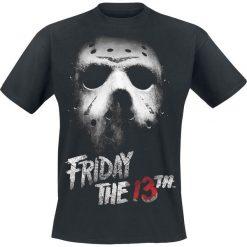 Friday The 13th Mask T-Shirt czarny. Czarne t-shirty męskie z nadrukiem Friday The 13th, s, z okrągłym kołnierzem. Za 74,90 zł.
