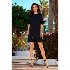 Sukienki hiszpanki: Sukienka z falbanką czarna