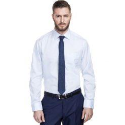Koszula SIMONE KDNR000321. Niebieskie koszule męskie marki bonprix, m, z nadrukiem, z klasycznym kołnierzykiem, z długim rękawem. Za 199,00 zł.