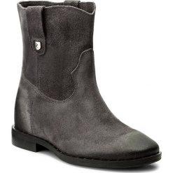 Botki R.POLAŃSKI - 0880 Grafit Zamsz/Olej. Czarne buty zimowe damskie marki R.Polański, ze skóry, na obcasie. W wyprzedaży za 269,00 zł.