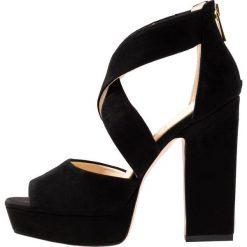 Jessica Simpson TEHYA Sandały na obcasie black. Czarne sandały damskie Jessica Simpson, z materiału, na obcasie. Za 419,00 zł.