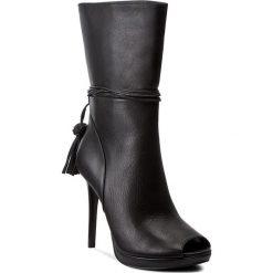 Botki MICHAEL KORS - Rosalie Open Toe Bootie 40T7ROHE5L Black. Czarne buty zimowe damskie Michael Kors, z materiału, z otwartym noskiem. W wyprzedaży za 659,00 zł.