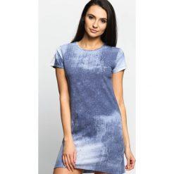 Sukienki: Niebieska Sukienka Ocean Waves