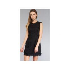 Sukienki krótkie Love Moschino  WVE6283. Sukienki małe czarne marki Love Moschino, z krótkim rękawem. Za 1159,20 zł.