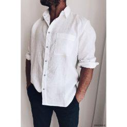 Koszula męska biała. Białe koszule męskie marki Pakamera. Za 219,00 zł.