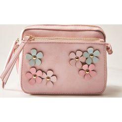 Torebki i plecaki damskie: Torebka z kwiatkami – Różowy