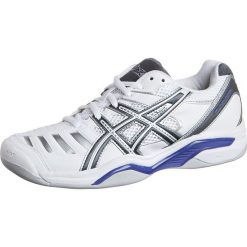 ASICS GELCHALLENGER 9 INDOOR Obuwie do tenisa Indoor white/charcoal/purple. Białe buty do tenisu damskie Asics, ze skóry ekologicznej. Za 399,00 zł.