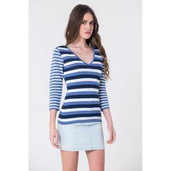 Bluzki damskie: Bluzka w kolorze niebieskim