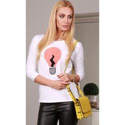 Bluzy damskie: Bluza biała 2734