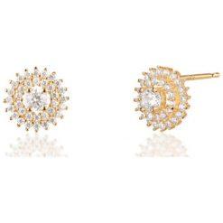 Biżuteria i zegarki: Zjawiskowe Kolczyki Złote – złoto żółte 585, Cyrkonia