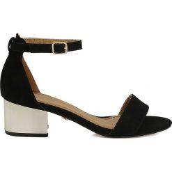 Rzymianki damskie: Czarne sandaly damskie