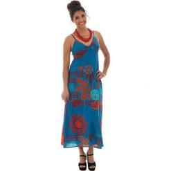 Odzież damska: Sukienka w kolorze turkusowo-czerwonym