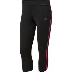 Spodnie sportowe damskie: Adidas Spodnie biegowe Response Tights 3/4 Czarno-różowe XS (BR2461*XS)