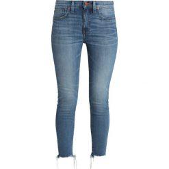 Madewell CROP KAIHARA RAW HEM Jeans Skinny Fit blue denim. Niebieskie jeansy damskie relaxed fit Madewell, z bawełny. Za 589,00 zł.
