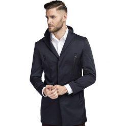 Płaszcz MICHELE PSGS000069. Niebieskie płaszcze na zamek męskie marki Giacomo Conti, m. Za 699,00 zł.