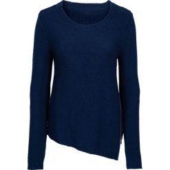 Swetry klasyczne damskie: Sweter dzianinowy z zamkiem bonprix kobaltowy