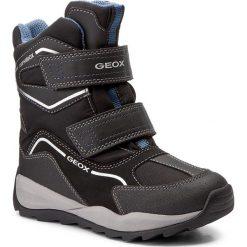 Buty zimowe chłopięce: Śniegowce GEOX – J Orizont B B.Abx E J740BE 0FU54 C9116 Black/Avio