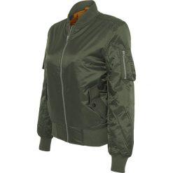 Urban Classics Ladies Basic Bomber Jacket Kurtka damska oliwkowy. Zielone bomberki damskie marki Urban Classics, l, prążkowane. Za 121,90 zł.