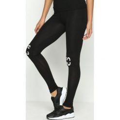 Spodnie damskie: Czarne Legginsy Alternative