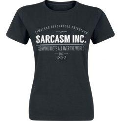 Bluzki asymetryczne: Sarcasm Inc. Koszulka damska czarny