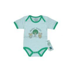 Ebi & Ebi  Fairtrade Body dziecięce kiwi - zielony. Niebieskie body niemowlęce marki Ebi & Ebi, z bawełny, z długim rękawem. Za 32,00 zł.