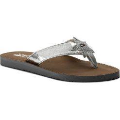 Chodaki damskie: Japonki TOMMY JEANS - Glitter Beach Sandal EN0EN00065 Silver 000