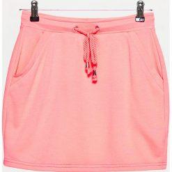 Spódniczki: Dresowa minispódnica – Pomarańczowy