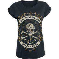 Bluzki asymetryczne: Saltatio Mortis Anchor Skull Koszulka damska czarny