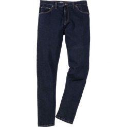 Dżinsy ze stretchem Slim Fit Straight bonprix ciemnoniebieski. Niebieskie jeansy męskie relaxed fit bonprix, z jeansu. Za 99,99 zł.