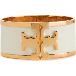 Bransoletka TORY BURCH - Enamel Raised Logo Wide Cuff 37775 New Ivory/Tory Gold 119. Brązowe bransoletki męskie Tory Burch, metalowe. Za 769,00 zł.