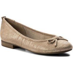Baleriny TAMARIS - 1-22114-20 Beige Struct. 467. Brązowe baleriny damskie zamszowe marki Tamaris. W wyprzedaży za 169,00 zł.