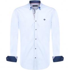 """Koszula """"Depth"""" w kolorze błękitnym. Niebieskie koszule męskie marki Sir Raymond Taylor, m, z bawełny, z klasycznym kołnierzykiem. W wyprzedaży za 159,95 zł."""