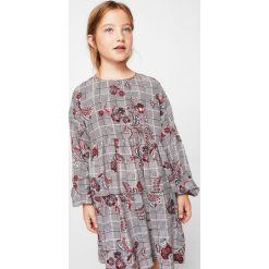 Sukienki dziewczęce z falbanami: Mango Kids – Sukienka dziecięca Flower 110-152 cm