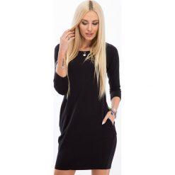 Sukienki: Czarna Minimalistyczna Sukienka 9988