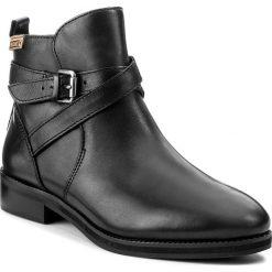 Botki PIKOLINOS - W5M-8614 Black. Czarne buty zimowe damskie Pikolinos, z materiału, na obcasie. W wyprzedaży za 349,00 zł.