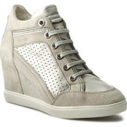 Sneakersy GEOX - D Eleni C D7267C 021BV C0997 Ecri/Platynowy. Brązowe sneakersy damskie Geox, z materiału. W wyprzedaży za 359,00 zł.