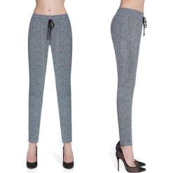 Bas-Bleu Spodnie damskie fitness Bas Black Grace szare r. M (BB222). Czarne spodnie sportowe damskie Bas Bleu, m. Za 112,43 zł.
