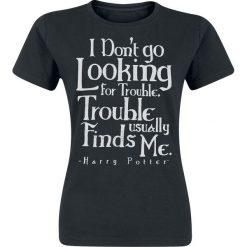 Bluzki asymetryczne: Harry Potter Don't Go Looking For Trouble Koszulka damska czarny