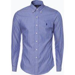 Polo Ralph Lauren - Koszula męska – Slim Fit, niebieski. Niebieskie koszule męskie slim marki Polo Ralph Lauren, m, w paski, z bawełny, button down. Za 349,95 zł.