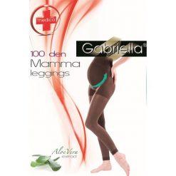 Legginsy pończosznicze Mama 173 - 100 DEN. Szare legginsy ciążowe marki Astratex, z materiału. Za 19,99 zł.