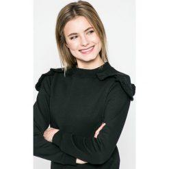 Answear - Bluza Sporty Fusion. Czarne bluzy rozpinane damskie ANSWEAR, l, z bawełny, bez kaptura. W wyprzedaży za 59,90 zł.