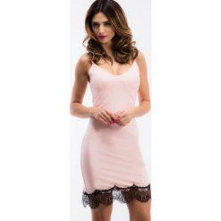 Bladoróżowa bieliźniana sukienka TA6124. Szare sukienki Fasardi, l. Za 49,00 zł.