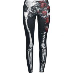 Spodnie damskie: Spiral Rose Bones Legginsy czarny