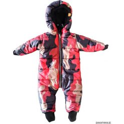 Kombinezon zimowy moro czerwone - ściągacze. Czerwone kombinezony niemowlęce marki Pakamera, na zimę, moro, z polaru. Za 219,00 zł.