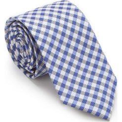 Krawat 87-7K-002-X7. Szare krawaty męskie marki Wittchen, w paski, z bawełny. Za 149,00 zł.
